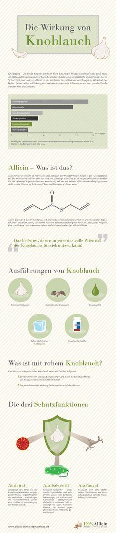 Die Wirkung von Knoblauch  #Infografik #Knobi #Knoblauch #gesuenderleben #Kochen #Facts #allicinallimaxdeutschland