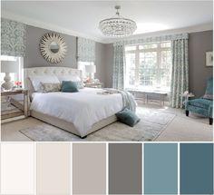 home decor bedroom colors Blue Bedroom Colors, Bedroom Colour Palette, Bedroom Color Schemes, Paint Colors For Living Room, Bedroom Neutral, Bedroom Brown, Colour Schemes, Living Room White, White Rooms