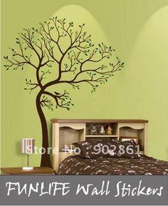 [funlife]-183x140cm LARGE TREE BROWN-GREEN WALL DECAL Art Sticker Mural on AliExpress.com. $36.50