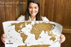 Scratch off world maps | Gifts for the Traveler | Gifts travelers will love | Scratch off Maps | Travel accessories |