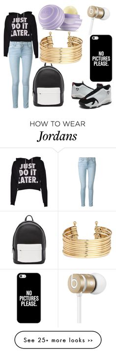 """fall"" by tianawood on Polyvore featuring Frame Denim, PB 0110, H&M, Casetify, Beats by Dr. Dre and Eos"