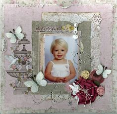 Kaisercraft LakeHouse and Prima Fairy Belle - Memoriesofmygirls ~~C'est Magnifique Kit Club August~~ - Scrapbook.com
