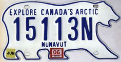 Nunavut License Plate Car License Plates, License Plate Art, Licence Plates, Environmental Print, Family Chiropractic, Vanity Plate, Hood Ornaments, Automotive Art, Retro