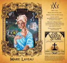 Beautiful Marie Laveau, Voodoo Queen of New Orleans, work magic for me.