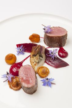 Herdwick lamb with beetroot and turnip. This would be so good for a holiday dish! From Burnt starring Bradley Cooper