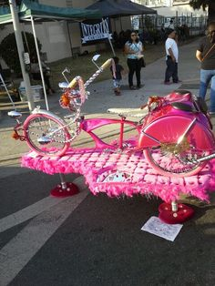 Pink lowrider bike