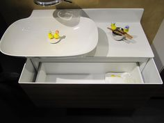 Space to store even the tiniest of Easter chicks #bathroom #storage #easter