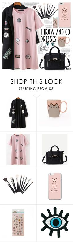 """""""Throw-and-Go Dresses"""" by pastelneon ❤ liked on Polyvore featuring Pusheen"""