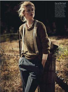 Elizabeth Debicki by Will Davidson for Vogue Australia December 2012