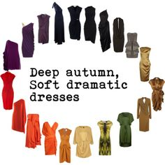 vestidos lindos para otoño profundo