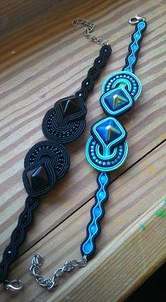 Luciana Soutache More Soutache Bracelet, Soutache Jewelry, Beaded Jewelry, Handmade Jewelry, Beaded Bracelets, Handmade Necklaces, Bead Embroidery Jewelry, Beaded Embroidery, Soutache Tutorial