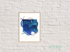 the ocean the wind 1/ print/ watercolor / marker/ by SapoConcho