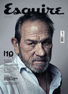 Tommy Lee Jones, Esquire Magazine May 2015 Cover Photo - Russia Magazine Cover Layout, Magazine Layout Design, Magazine Covers, Magazine Wall, Life Magazine, Tommy Lee Jones, Celebrity Magazines, History Magazine, Fashion Cover