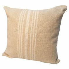 "Reversible linen-blend pillow. Made in the USA.     Product: Pillow    Construction Material: Linen and cotton with polyester fill    Color: Ivory and natural    Features:   Made in the USA  Double-sided design  Hidden zipper closure Insert included   Dimensions: 24"" x 24"" Cleaning and Care: Spot clean only"