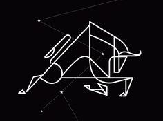 minimalismo por Ross Brugink. Creación de logotipos haciendo uso del espacio positivo y negativo. #gif