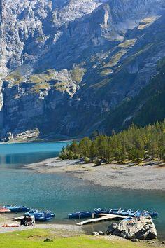 Unseen Switzerland ตอน ทะเลสาบบนสวรรค์ : Oeschinensee ทะเลสาบสีครามบนยอดเขา และ ฤดูล่าปลาเทราต์ที่ Blausee - Pantip