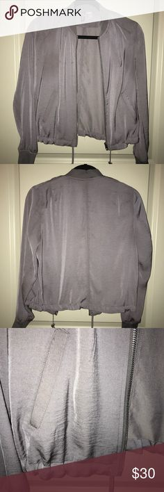 ✨HOST PICK✨ Purple/gray bomber jacket ✨HOST PICK BEST IN OUTERWEAR 11/24✨  Purple/gray bomber jacket. Drawstring at waist. Perfect condition. H&M Jackets & Coats