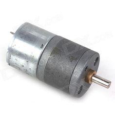 ZnDiy-BRY 25GA-6V-80 DC 6V 80rpm High Torque Gear Motor - Silver . Color Silver Brand ZnDiy-BRY Model 25GA-6V-80 Quantity 1 Piece Material Iron English Manual / Spec No Other Features Voltage: DC 6V; RPM: 80RPM; Length: 52mm; Diameter: 25mm; Shaft length: 9.5mm; Shaft diameter: 4mm; Torque: 0.3kg/cm. Packing List 1 x Gear motor. Tags: #Electrical #Tools #Arduino #SCM #Supplies #Motors