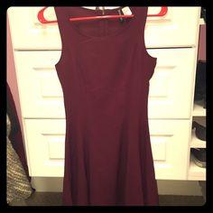 Burgundy H&M skater dress Never worn before, skater dress, burgundy H&M Dresses Mini