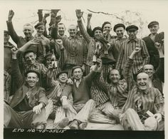 April 29th, 1945: The Liberation of Dachau.  How happy they must have felt to have it be over.