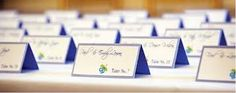 Blue Place Cards