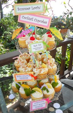 Cocktail Themed Cupcakes