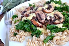 Creamy White Bean Pasta with Mushrooms & Sage - Coconut and Berries