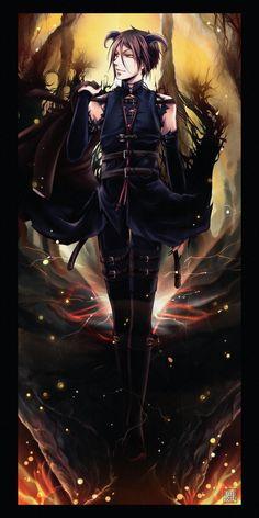 Sebastian Michaelis-- his demon form is pretty sugoi