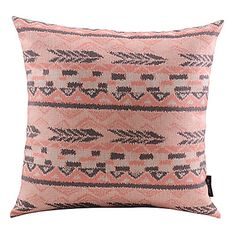 Pink Christmas Style Cotton/Linen Decorative Pillow Cover - USD $ 14.99