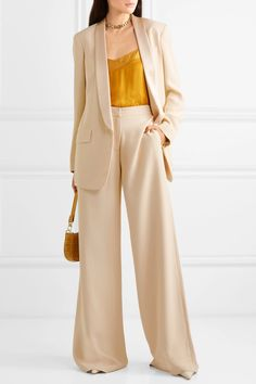 Beautiful and Elegant with Sets : ( Suit Fashion, Fashion Dresses, Womens Fashion, Fashion Marketing, Looks Chic, Work Attire, Work Outfits, Wide Leg Pants, Wide Trousers