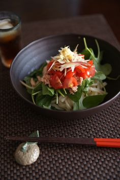soba noodle salad / サラダうどん。