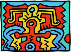 Growing 5 by Keith Haring is a collection of 5 screen prints. Keith Haring sought to democratize art and enable growth in this colorful and eclectic series. Keith Haring Prints, Keith Haring Art, Keith Allen, James Rosenquist, Claes Oldenburg, Modern Pop Art, Jasper Johns, Grafiti, New York Art