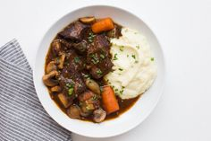 Russ Crandall (The Domestic Man) shares a recipe and the history of paleo Beef Bourguignon. Beef Bourguignon, Sin Gluten, Gluten Free, Dairy Free, Paleo Recipes, Whole Food Recipes, Paleo Meals, Paleo Food, Healthy Foods