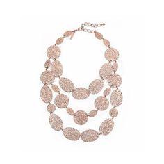 Oscar de la Renta Textured Link Necklace ($475) ❤ liked on Polyvore