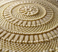 Ravelry: Lille Matelassé Circular Baby Afghan pattern by Priscilla Hewitt. by TxOzRoze Crochet Afghans, Baby Afghans, Crochet Doilies, Crochet Stitches, Knit Crochet, Easy Crochet, Free Crochet, Baby Afghan Crochet Patterns, Crochet Mandala Pattern
