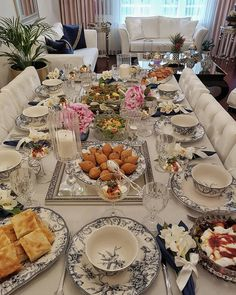 Image may contain: 1 person, sitting, table, food and indoor Ramadan Decorations, Table Decorations, Turkish Breakfast, Food Decoration, Dinning Table, Table Arrangements, Iftar, Dinner Sets, Küchen Design
