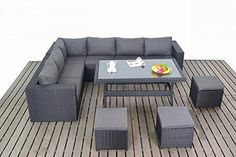 Sydney Urban Garden Furniture Corner Sofa Dining Table Set