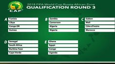 RUSSIA 2018 DRAW: African World Cup qualifying groups