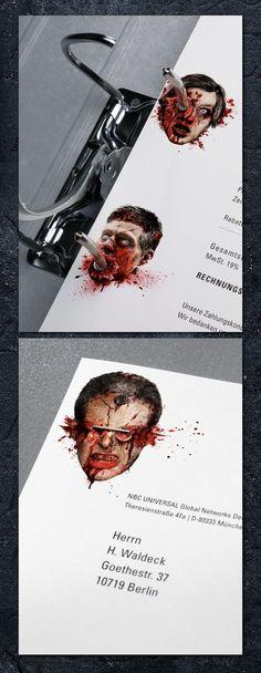 13th Street Stationary of Horror! By Karla Kurz and agency Jung Von Matt