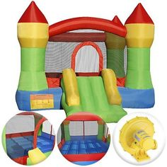 Cloud 9 Mighty Bounce House - Inflatable Bouncing Jump and Slide with Air Blower - Castle Theme by Cloud 9 Bouncers, $229.00