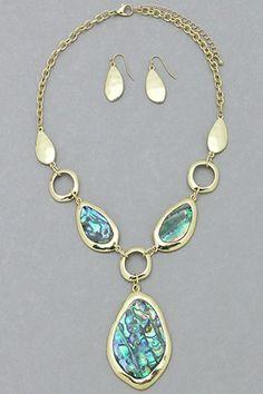 Abalone in Love Necklace Set #necklace #jewellery amusemeboutique.com