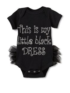 "Never too young to include a ""little black dress"" for your fashionista in training"
