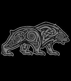 Jj Tattoos, Bear Tattoos, Body Art Tattoos, Sleeve Tattoos, Viking Symbols, Viking Runes, Viking Art, Viking Knotwork, Rune Tattoo