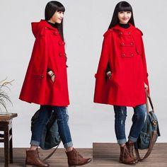 Wool Winter Coat Jacket for Women by deboy2000 on Etsy