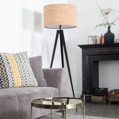 Buy Zuiver Tripod Cork Floor Lamp Cork Metal online with Houseology's Price Promise. Full Zuiver collection with UK & International shipping. Tripod Floor Lamps, Tempered Glass Table Top, Large Furniture, Lamp, Floor Lamp, Flooring, Tripod Table Lamp, Cork Flooring, Living Furniture