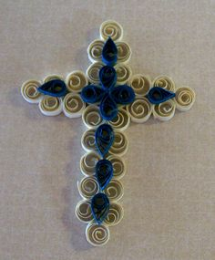 Handmade Quilling or Quilled Cross Ornament  Package by claynfaye, $2.99