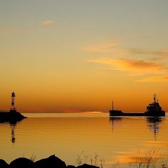 Sunset - Halmstad harbor, Sweden