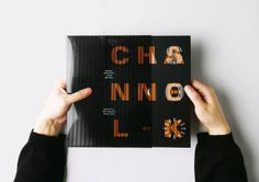 Changeable type for Fashion Channel-K by Wooksang Kwon, via Behance
