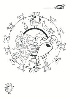 children activities, more than 2000 coloring pages Pattern Coloring Pages, Colouring Pages, Adult Coloring Pages, Activities For Kids, Crafts For Kids, Seaside Theme, Nouvel An, Flower Of Life, Zentangles
