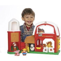 Fisher-Price Little People Animal Sounds Farm(styles vary)(age: 24 months - 4 years) by Fisher-Price. $71.36. Watch your children give the animals a shortcut through the silo, then open the sliding door to retrieve them. When playtime is over, all of the animals can be stored in the silo, and it can be folded in for convenient storage.. This farm includes Farmer Jed, a cow, a sheep, a horse, a pig and a goat. Your little farmers will have all kinds of adventures with Je...